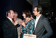 KEVIN SPACEY; MERCEDES RUEHL; JEFF GOLDBLUM; The Old Vic at the Vaudeville Theatre ' The Prisoner of Second Avenue'  press night. After-party at Jewel. 13 July 2010. -DO NOT ARCHIVE-© Copyright Photograph by Dafydd Jones. 248 Clapham Rd. London SW9 0PZ. Tel 0207 820 0771. www.dafjones.com.