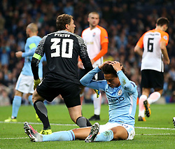 Leroy Sane of Manchester City reacts after missing a chance - Mandatory by-line: Matt McNulty/JMP - 26/09/2017 - FOOTBALL - Etihad Stadium - Manchester, England - Manchester City v Shakhtar Donetsk - UEFA Champions League Group stage - Group F