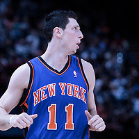 06 October 2010: New York Knicks guard Andy Rautins #11 is seen during the Minnesota Timberwolves 106-100 victory over the New York Knicks, during 2010 NBA Europe Live, at the POPB Arena in Paris, France.