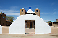Images of the Spanish Missions in New Mexico near Taos.
