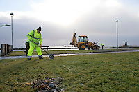 07/01/2014 The clean up continues in Salthill galway. Photo:Andrew Downes