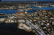 Aerial view of Portsmouth New Hampshire