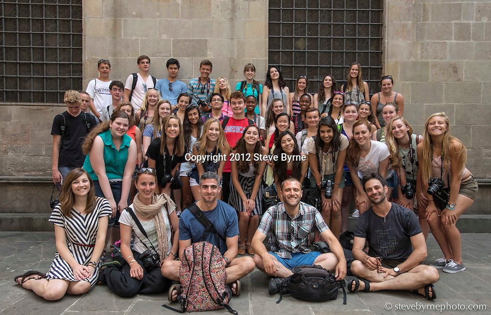 National Geographic Student Expeditions 2013 On Assignment students and instructors in Barcelona.