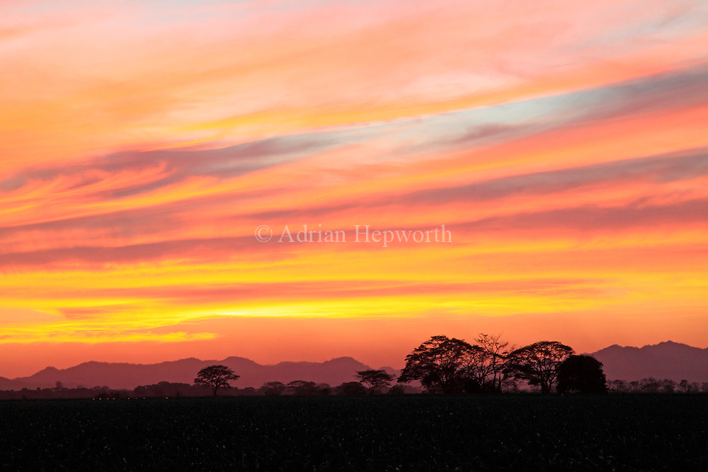 Sunset, Guanacaste, Costa Rica. <br />