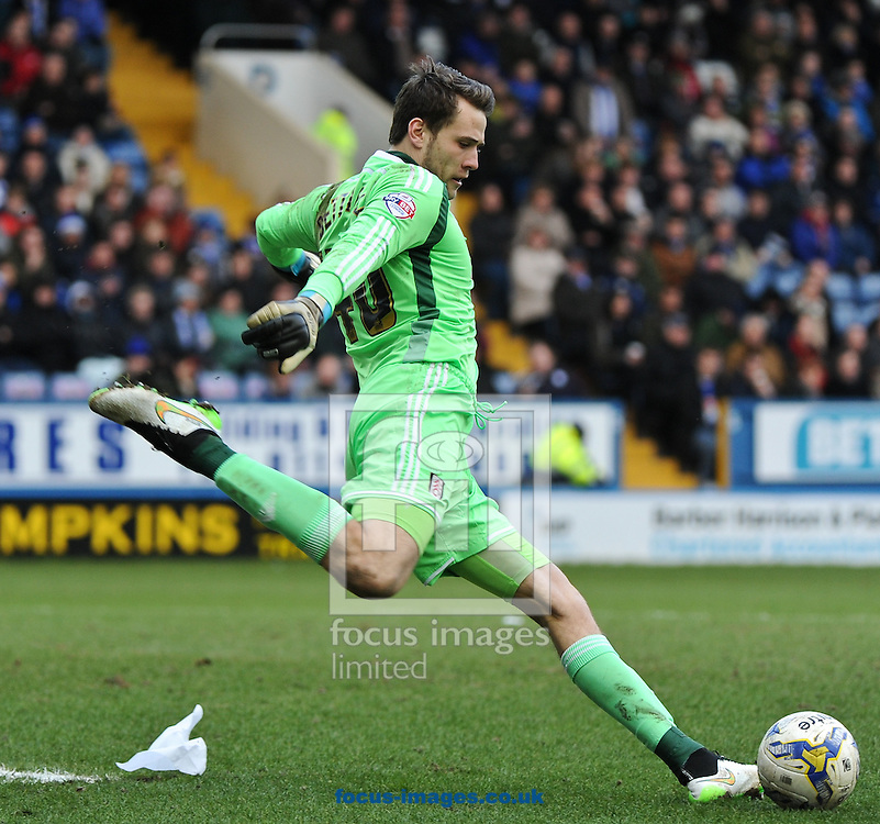 Marcus Bettinelli of Fulham during the Sky Bet Championship match at Hillsborough, Sheffield<br /> Picture by Richard Land/Focus Images Ltd +44 7713 507003<br /> 14/03/2015