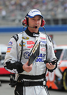 Feb. 21, 2010; Fontana, CA, USA; NASCAR Sprint Cup Series crew chief Chad Knaus during the Auto Club 500 at Auto Club Speedway. Mandatory Credit: Jennifer Stewart-US PRESSWIRE
