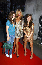 JADE JAGGER with her daughters left, AMBA JACKSON and right, ASSISI JACKSON at a party hosted by retail property group Westfield at the Natural History Museum, Cromwell Road, London SW7 on 17th September 2006.<br />