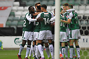 GOAL Joel Grant celebrates scoring 1-0 during the EFL Sky Bet League 1 match between Plymouth Argyle and Rochdale at Home Park, Plymouth, England on 28 October 2017. Photo by Daniel Youngs.