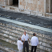 President Bush and President of Mexico Felipe Calderon tour the Uxmal Mayan site Tuesday, March 13, 2007.  ..Photo by Khue Bui.