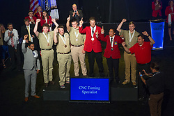 The 2017 SkillsUSA National Leadership and Skills Conference Competition Medalists were announced Friday, June 23, 2017 at Freedom Hall in Louisville. <br /> <br /> CNC Turning Specialist<br /> <br /> 	Derbe Stroup<br />   High School	 Carbon Career &amp; Technical Institute<br />   Gold	 Jim Thorpe, PA<br /> CNC Turning Specialist	Brandon Lee<br />   High School	 Saint Clair TEC<br />   Silver	 Marysville, MI<br /> CNC Turning Specialist	Quentin W Roberts<br />   High School	 Pullman High School<br />   Bronze	 Pullman, WA<br /> CNC Turning Specialist	Nathan Melhouse<br />   College	 Alexandria Technical &amp; Community College<br />   Gold	 Alexandria, MN<br /> CNC Turning Specialist	Noah Smith<br />   College	 Wallace State College<br />   Silver	 Hanceville, AL<br /> CNC Turning Specialist	Morgan Key<br />   College	 Guilford Tech Community College<br />   Bronze	 Jamestown, NC