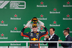 November 17, 2019, Sao Paulo, Sao Paulo, Brazil: MAX VERSTAPEN, of Red Bull Racing 1st place of the Formula One Grand Prix of Brazil 2019 at Interlagos circuit, in Sao Paulo, Brazil, on Sunday, November 17. (Credit Image: © Paulo Lopes/ZUMA Wire)