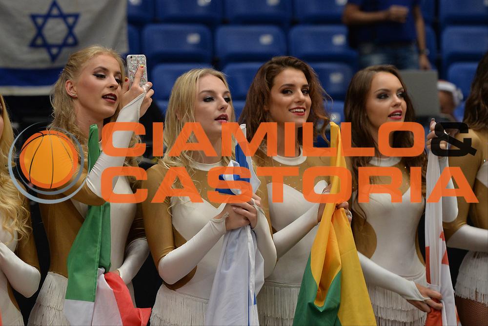 Cheerleader <br /> Nazionale Italiana Maschile Senior<br /> Eurobasket 2017 - Group Phase<br /> Lituania - Italia<br /> FIP 2017<br /> Tel Aviv, 03/09/2017<br /> Foto Ciamillo - Castoria/ M.Longo
