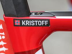 02.07.2017, Duesseldorf, GER, Tour de France, 2. Etappe von Düsseldorf (GER) nach Lüttich (BEL/203 km), im Bild Teil des Rades von KRISTOFF Alexander (NOR, Team Katusha Alpecin) // part of the bike from Alexander Kristoff of Norway during Stage 2 from Duesseldorf (GER) to Luettich (BEL/203 km) of the 2017 Tour de France in Duesseldorf, Germany on 2017/07/02. EXPA Pictures © 2017, PhotoCredit: EXPA/ Martin Huber