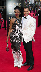 The Laurence Olivier Awards - Red Carpet Arrivals. Beverly Knight and Guest attends The Laurence Olivier Awards at the Royal Opera House, London, United Kingdom. Sunday, 13th April 2014. Picture by Daniel Leal-Olivas / i-Images