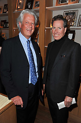 Left to right, RANDLE SIDDELEY (LORD KENILWORTH) and VISCOUNT LINLEY at a party to celebrate the publication of 'Garden' by Randle Siddeley held at Linley, 60 Pimlico Road, London on 24th May 2011.