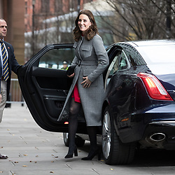 © Licensed to London News Pictures . 06/12/2017 . Manchester , UK . KATE MIDDLETON arrives . The Duke And Duchess Of Cambridge, Prince William and Kate Middleton, attend the Children's Global Media Summit at the Manchester Central Convention Centre . Photo credit : Joel Goodman/LNP