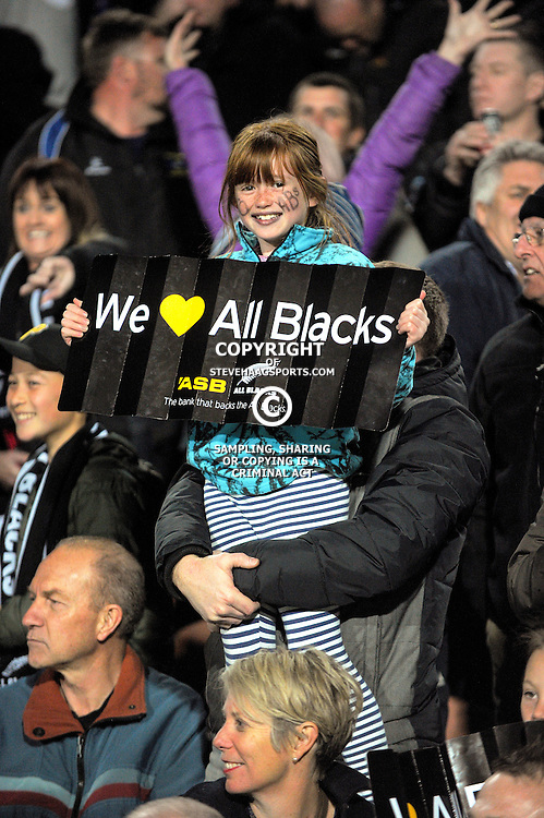 Fans in the grandstand during The Rugby Championship match between the NZ All Blacks and Argentina Pumas at FMG Stadium in Hamilton, New Zealand on Saturday, 10 September 2016. Photo: Dave Lintott / lintottphoto.co.nz