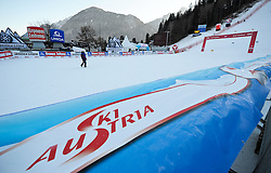 27.12.2011, Hochstein, Lienz, AUT, letzte Vorbereitungen am Hochstein vor dem morgigen Renntag am Hochstein, im Bild Ziel // last preperations before the first race day tomorrow, Lienz, 27-12-2011, EXPA Pictures © 2011, PhotoCredit: EXPA/ M. Gruber