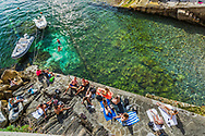Sunbathers Italian Riviera, Cinque Terre.