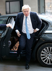 © Licensed to London News Pictures. 04/12/2016. London, UK. Foreign Secretary BORIS JOHNSON arrives at BBC Broadcasting House in London to appear on The Andrew Marr show on BBC One on Sunday, 4 December 2016. Photo credit: Tolga Akmen/LNP