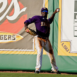 06 June 2009:  Jared Mitchell (8) of LSU in action during a 5-3 victory by the LSU Tigers over the Rice Owls in game two of the NCAA baseball College World Series, Super Regional played at Alex Box Stadium in Baton Rouge, Louisiana. The Tigers with the win advance to next week's College Baseball World Series in Omaha, Nebraska.