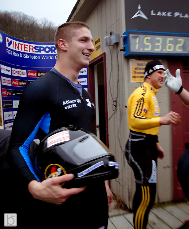 Nov 21, 2009: Run 2 of the  Intersport FIBT World Cup 2-Man Bobsled at the Olympic Sports Complex, Lake Placid, N.Y. (ORDA Photo ©Todd Bissonette)