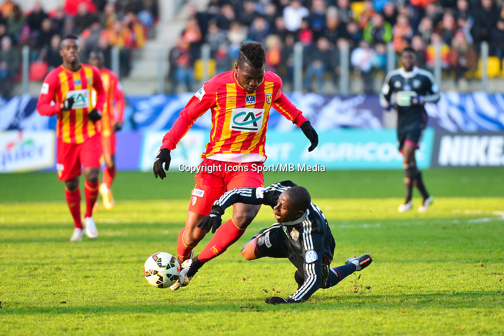 Jean Philippe GBAMIN / Mouhamadou DABO - 04.01.2014 - Lens / Lyon - Coupe de France<br />
