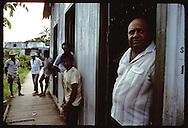 Manuel Carvalho, wealthy merchant/rancher, stands in door of his store in Eirunepe, Amazonas. Brazil
