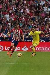 October 28, 2017 - Madrid, Spain - Filipe Luis (L) and Soriano (R)..Draw at 1 in Wanda Metropolitano stadium. (Credit Image: © Jorge Gonzalez/Pacific Press via ZUMA Wire)