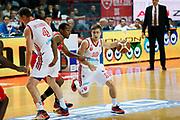 DESCRIZIONE : Varese Lega A 2013-14 Cimberio Varese Victoria Libertas Pesaro<br /> GIOCATORE : Andrea De Nicolao Marko Scekic<br /> CATEGORIA : Palleggio Blocco Tecnica<br /> SQUADRA : Cimberio Varese<br /> EVENTO : Campionato Lega A 2013-2014<br /> GARA : Cimberio Varese Victoria Libertas Pesaro<br /> DATA : 01/12/2013<br /> SPORT : Pallacanestro <br /> AUTORE : Agenzia Ciamillo-Castoria/G.Cottini<br /> Galleria : Lega Basket A 2013-2014  <br /> Fotonotizia : Varese Lega A 2013-14 Cimberio Varese Victoria Libertas Pesaro<br /> Predefinita :