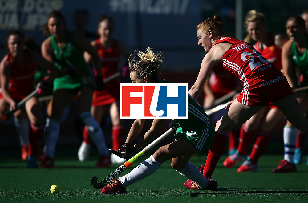 JOHANNESBURG, SOUTH AFRICA - JULY 16:  Nicola Daly of Ireland scores a goal during day 5 of the FIH Hockey World League Women's Semi Finals Pool A match between England and Ireland at Wits University on July 16, 2017 in Johannesburg, South Africa.  (Photo by Jan Kruger/Getty Images for FIH)