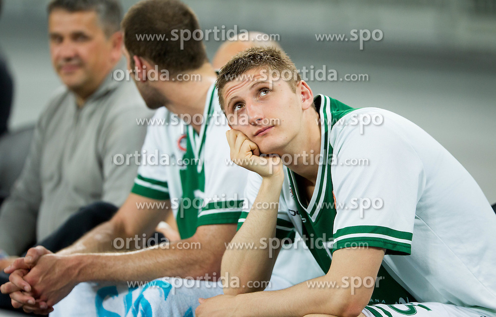 Gezim Morina of Olimpija during basketball match between KK Union Olimpija and KK Sentjur in 4th Round of Telemach League for Slovenian National Champion 2011/12, on April 4, 2012, in Arena Stozice, Ljubljana, Slovenia. (Photo by Vid Ponikvar / Sportida.com)