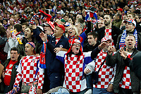Photo: Richard Lane/Sportsbeat Images.<br />England v Croatia. UEFA European Championships Qualifying. 21/11/2007. <br />Croatia fans celebrate victory.