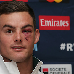 EASTBOURNE, ENGLAND - SEPTEMBER 28: Jesse Kriel during the 2015 Rugby Wolrd Cup Springboks media briefing at the Grand Eastbourne Hotel Eastbourne on September 28, 2015 in Eastbourne, England. (Photo by Steve Haag/Gallo Images)