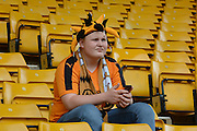 Wolves fan during the Sky Bet Championship match between Wolverhampton Wanderers and Charlton Athletic at Molineux, Wolverhampton, England on 29 August 2015. Photo by Alan Franklin.