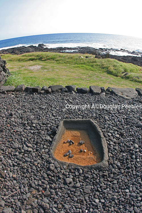 Salt collector, Heiau, South Point, Island of Hawaii