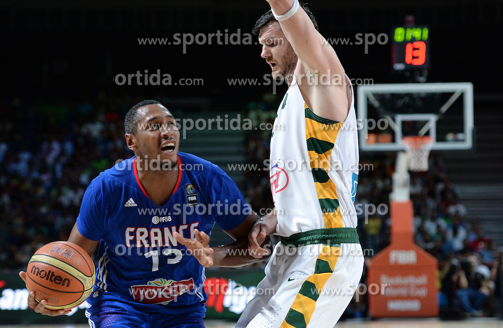 Boris Diaw of France in action during the 2014 FIBA World Basketball Championship Third Place match between France and Lithuania at the Palacio de los Deportes, on September 13, 2014 in Madrid, Spain. Photo by Tom Luksys  / Sportida.com <br /> ONLY FOR Slovenia, France