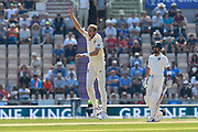 Stuart Broad of England has an unsuccessful appeal for a wicket during the 4th day of the 4th SpecSavers International Test Match 2018 match between England and India at the Ageas Bowl, Southampton, United Kingdom on 2 September 2018.