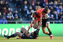 Semi Radradra of Toulon is double-tackled - Mandatory byline: Patrick Khachfe/JMP - 07966 386802 - 09/12/2017 - RUGBY UNION - Stade Mayol - Toulon, France - Toulon v Bath Rugby - European Rugby Champions Cup
