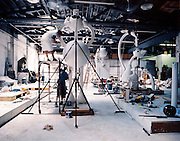 Tom Otterness studio in DUMBO with See No Evil and The Kipper Eater July 2002