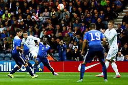 Nathan Redmond of England U21 fires a shot at goal  - Mandatory byline: Matt McNulty/JMP - 07966386802 - 03/09/2015 - FOOTBALL - Deepdale Stadium -Preston,England - England U21 v USA U23 - U21 International