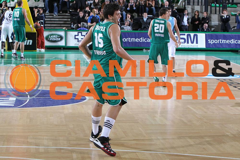 DESCRIZIONE : Treviso Lega A 2010-11 Eurocup Qualifyng Round BWIN Benetton Treviso Chorale Roanne Basket<br /> GIOCATORE : Alessandro Gentile<br /> SQUADRA : BWIN Benetton Treviso Chorale Roanne Basket<br /> EVENTO : Campionato Lega A 2010-2011 <br /> GARA : BWIN Benetton Treviso Chorale Roanne Basket<br /> DATA : 16/11/2010<br /> CATEGORIA : Esultanza<br /> SPORT : Pallacanestro <br /> AUTORE : Agenzia Ciamillo-Castoria/G.Contessa<br /> Galleria : Lega Basket A 2010-2011 <br /> Fotonotizia : Treviso Lega A 2010-11 Eurocup Qualifyng Round BWIN Benetton Treviso Chorale Roanne Basket<br /> Predefinita :
