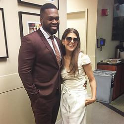 """50 Cent releases a photo on Instagram with the following caption: """"I ran into @marisatomei today she is a sweetheart you gotta meet her. #smsaudio.com"""". Photo Credit: Instagram *** No USA Distribution *** For Editorial Use Only *** Not to be Published in Books or Photo Books ***  Please note: Fees charged by the agency are for the agency's services only, and do not, nor are they intended to, convey to the user any ownership of Copyright or License in the material. The agency does not claim any ownership including but not limited to Copyright or License in the attached material. By publishing this material you expressly agree to indemnify and to hold the agency and its directors, shareholders and employees harmless from any loss, claims, damages, demands, expenses (including legal fees), or any causes of action or allegation against the agency arising out of or connected in any way with publication of the material."""