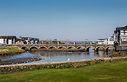 The Fifteenth century bridge across the River Camel in Wadebridge, North Cornwall, United Kingdom.