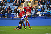 Jordan Rhodes of Sheffield Wednesday is brought down inside the Bristol City box during the EFL Sky Bet Championship match between Sheffield Wednesday and Bristol City at Hillsborough, Sheffield, England on 22 December 2019.