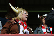 Picture by David Horn/Focus Images Ltd +44 7545 970036.27/04/2013.Doncaster Rovers fans before the npower League 1 match at Griffin Park, London.