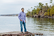 Portrait of Ajay Raman at Oakledge Park in Burlington, VT.