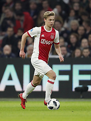 Frenkie de Jong of Ajax during the international friendly match between Ajax Amsterdam and Borussia Mönchengladbach at the Amsterdam Arena on November 21, 2017 in Amsterdam, The Netherlands