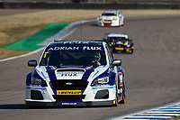 #1 Ashley Sutton Adrian Flux BMR Subaru Racing Subaru Levorg GT during BTCC Practice  as part of the Dunlop MSA British Touring Car Championship - Rockingham 2018 at Rockingham, Corby, Northamptonshire, United Kingdom. August 11 2018. World Copyright Peter Taylor/PSP. Copy of publication required for printed pictures.