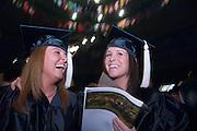 18276Undergraduate Commencement 2007..Carrie Longmore & Sarah Schuler(dark hair)